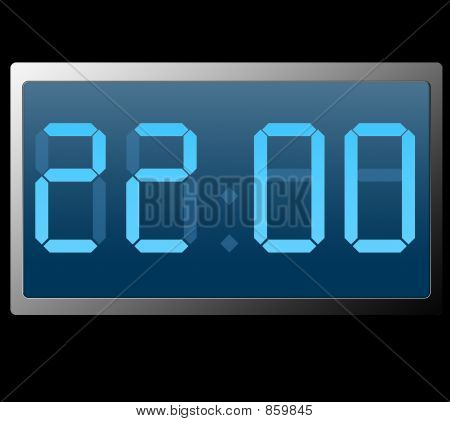 Digital Clock Showing Twenty Two Hundred Hours