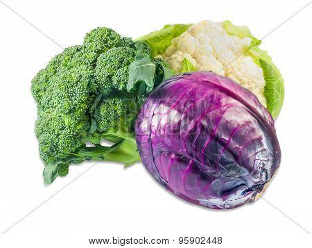Cauliflower, Broccoli And Scotch Kale