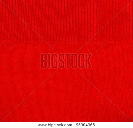 close up of red smooth cashmere texture poster