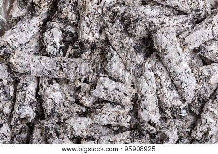 Cigarette Ash As Abstract Background