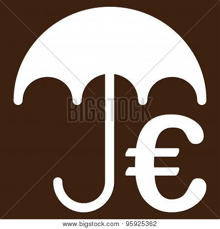 Incurance Flat Icon From Bicolor Euro Banking Set