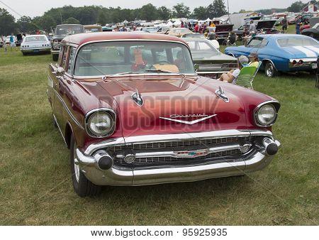 1957 Chevy Bel Air Wagon Car