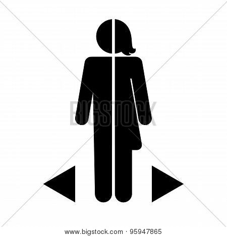 gender differences icon on a white background poster