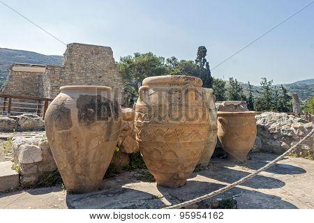 Clay jars at Knossos palace