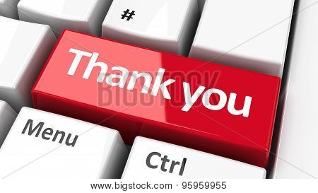 Computer Keyboard Thank You