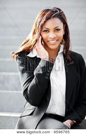 Black Businesswoman On The Phone