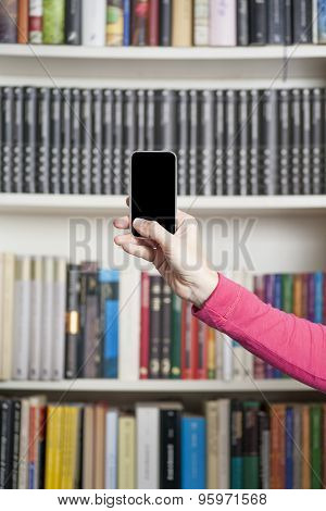 Pink Arm Showing Smartphone Screen