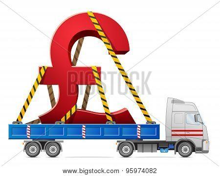 Road Transportation Of Pound Sterling Symbol