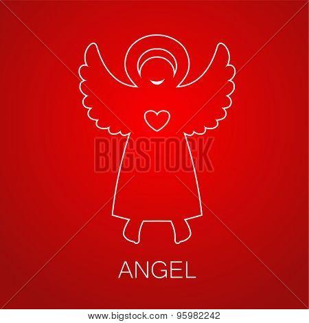 Angel - symbol of love, hope, care, Christmas.