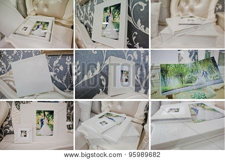 twist white wedding photo book and album poster