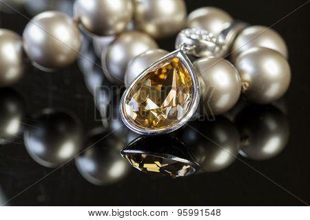 closeup of beautiful jewellry