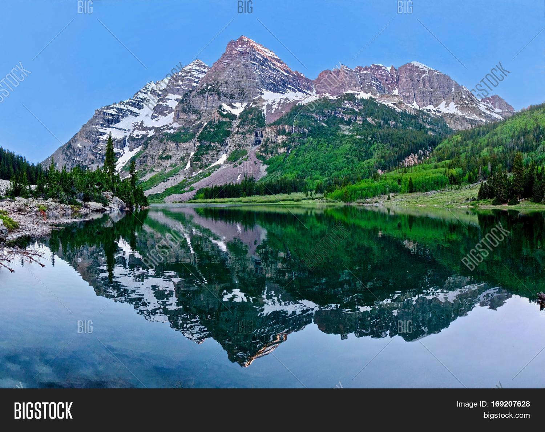 Maroon Bells Peaks Image & Photo (Free Trial)   Bigstock