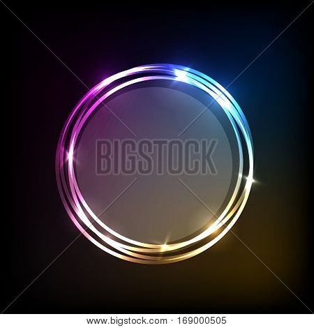 Abstract background with colorful circles banner, stock vector