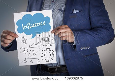 Technology, Internet, Business And Marketing. Business Analysis Concept.influence
