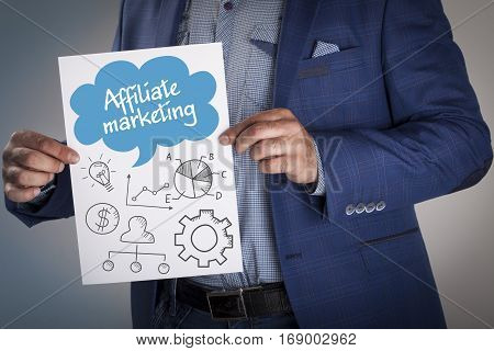 Technology, Internet, Business And Marketing. Business Analysis Concept.affiliate Marketing