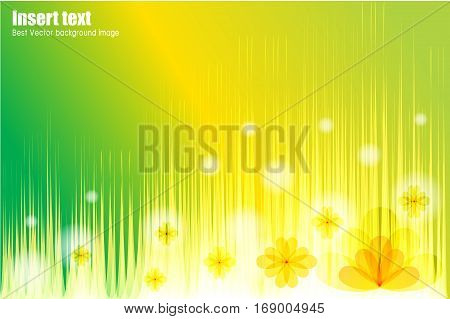Abstract vector background reminiscent of flower field