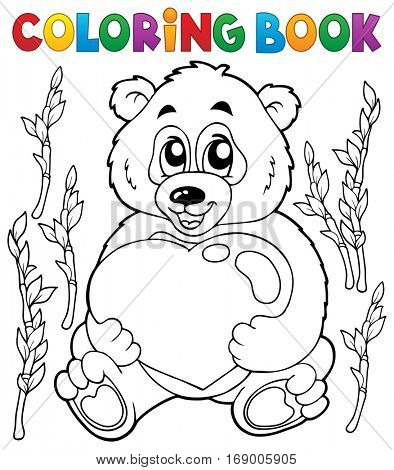 Coloring book Valentine topic 4 - eps10 vector illustration.