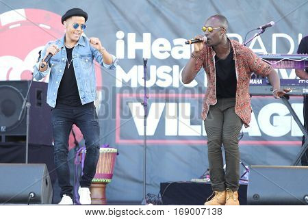 LAS VEGAS-SEP 20: Nico and Vinz perform in concert at the 2014 iHeartRadio Music Festival Village Show at MGM Resorts Village on September 20, 2014 in Las Vegas, Nevada.