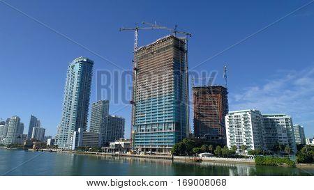 Edgewater Miami Florida USA shot with a wide angle