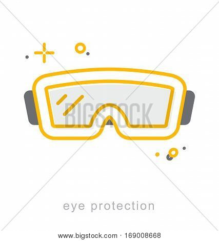 Thin line icons Linear symbols Eye protection