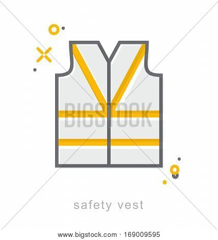 Thin line icons Linear symbols safety vest icon