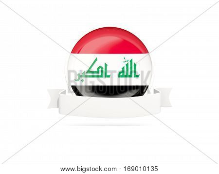 Flag Of Iraq With Banner