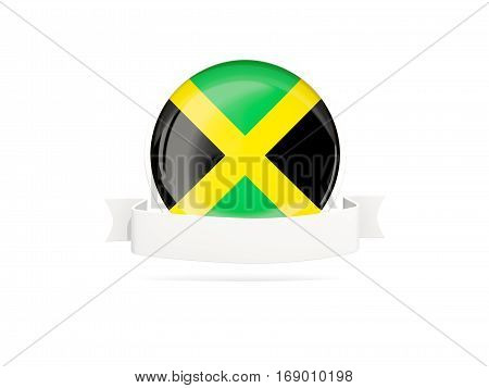 Flag Of Jamaica With Banner