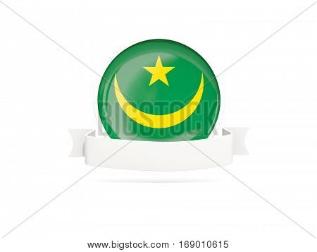 Flag Of Mauritania With Banner