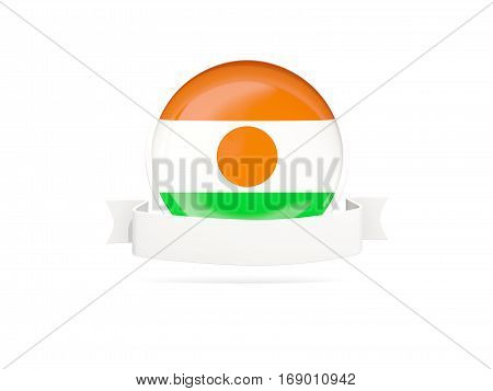 Flag Of Niger With Banner