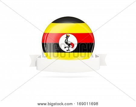 Flag Of Uganda With Banner