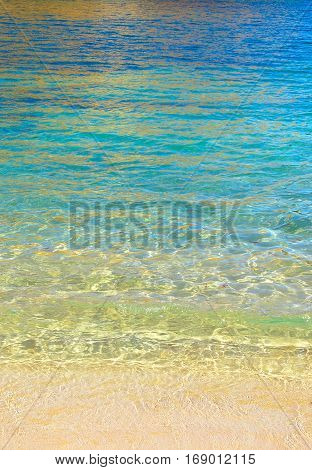 Magic colors of the sand and the ocean