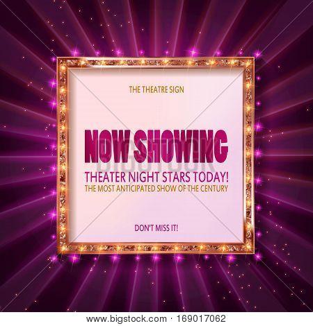 Cinema Billboard Now Showing.