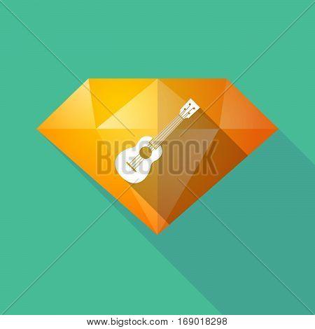 Long Shadow  Diamond With  An Ukulele