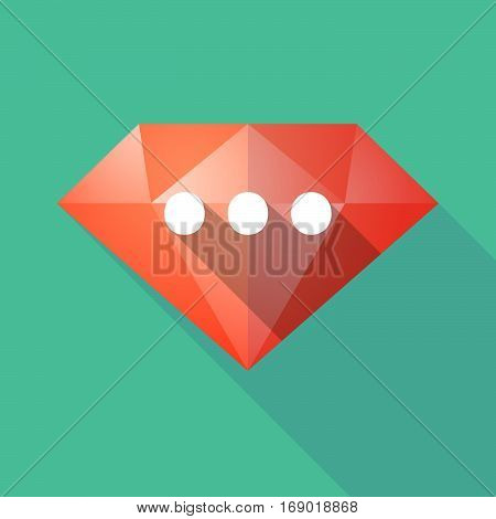 Long Shadow  Diamond With  An Ellipsis Orthographic Sign