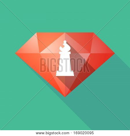 Long Shadow  Diamond With A Bishop    Chess Figure