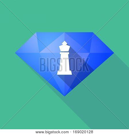 Long Shadow  Diamond With A  King   Chess Figure