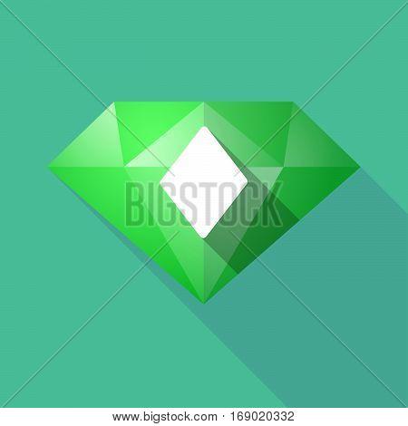 Long Shadow  Diamond With  The  Diamond  Poker Playing Card Sign