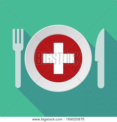 Long Shadow Tableware With   The Swiss Flag