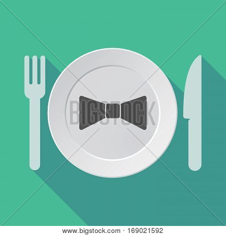 Long Shadow Tableware With  A Neck Tie Icon