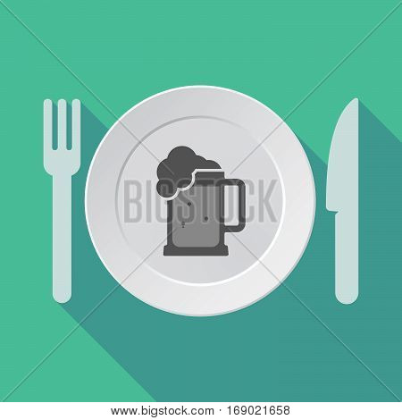 Long Shadow Tableware With  A Beer Jar Icon