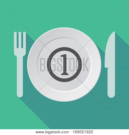 Long Shadow Tableware With  A Coin Icon