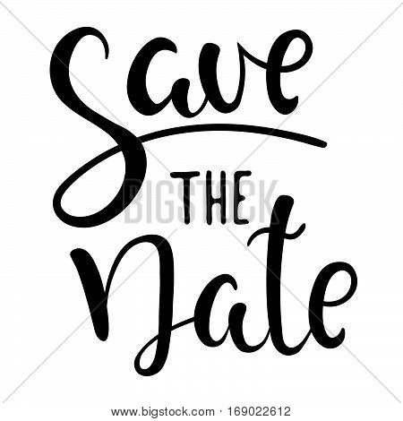 Save the date. Vector hand drawn illustration. Lettering. Wedding