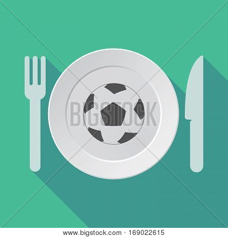 Long Shadow Tableware With  A Soccer Ball