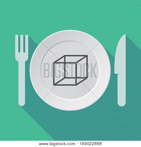 Long Shadow Tableware With  A Cube Sign