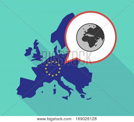 Map Of The Eu Map With   An Asia, Africa And Europe Regions World Globe