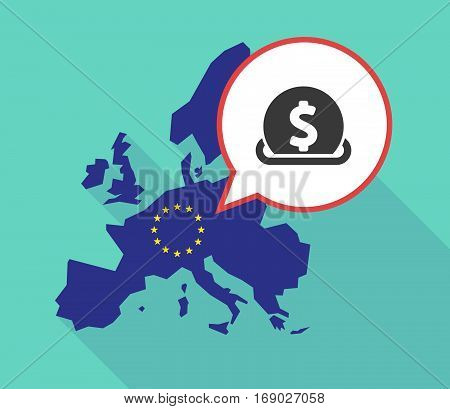 Map Of The Eu Map With  A Dollar Coin Entering In A Moneybox