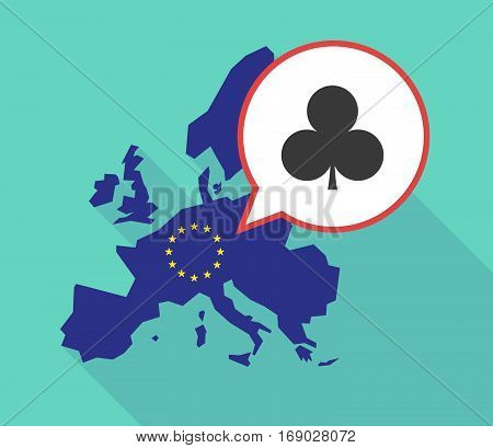 Map Of The Eu Map With  The  Club  Poker Playing Card Sign
