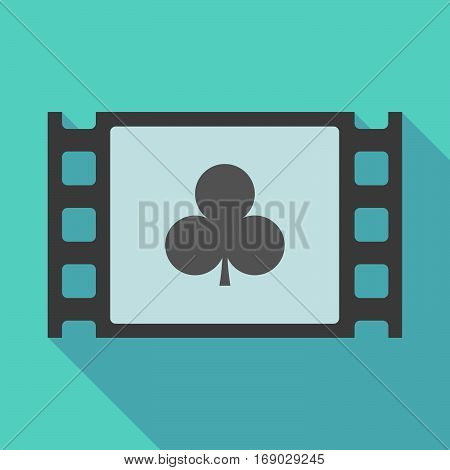 Long Shadow Film Frame With  The  Club  Poker Playing Card Sign