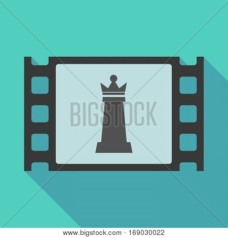 Long Shadow Film Frame With A  Queen   Chess Figure