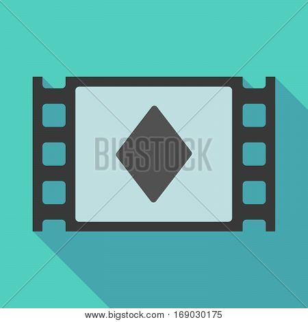 Long Shadow Film Frame With  The  Diamond  Poker Playing Card Sign